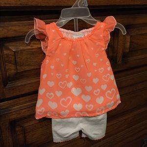 2 piece newborn baby girl set (sold)